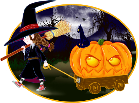 Little Witch Helloween by Manji00