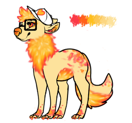 Grapefruit wolf-adopt 15 points [CLOSED] by KaffWolf