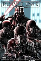 Star Wars Rogue One - Vader and Death Troopers by Robert-Shane