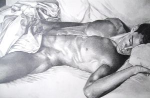Male nude-WIP by candidaartstudio