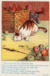 Victorian Advertising - The Cat by Yesterdays-Paper