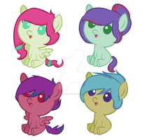 Foals for WaffleToaster by Shimmering-Adopts