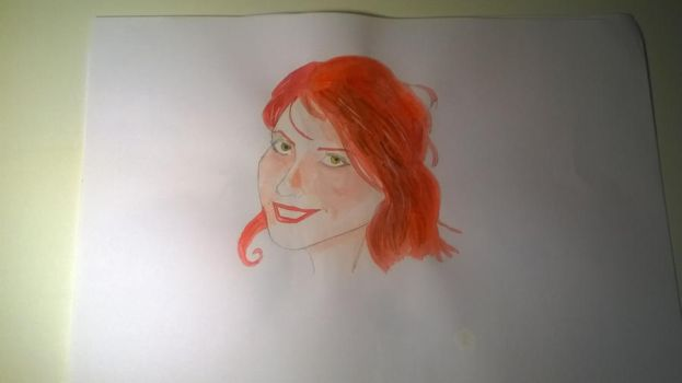 K. watercolor sketch by Jim-From-Hell
