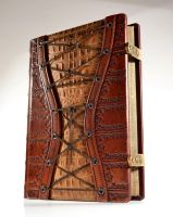 Large Leather Corset Journal (11 x 8 inches) by alexlibris999