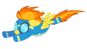 Spitfire flying by BaumkuchenPony