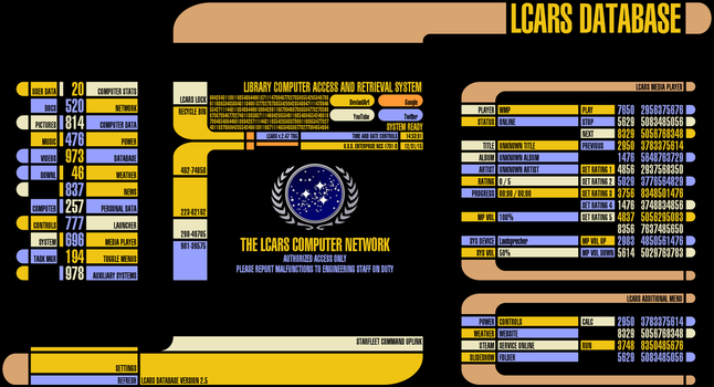 LCARS for Rainmeter v2.5.0 (May 21 2016) by Jefson