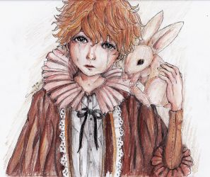 Boy and His Bunny: 5 Color Challenge by littlemissmarikit