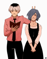Touka And Haise by auburn-owl