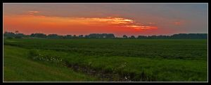Farm sunset panoramic. L1050060, with story by harrietsfriend