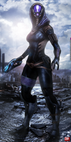 Mass Effect 3 Tali' Zorah (2014) by RedLineR91