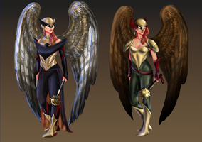 Hawkgirl Redesign by jadenwithwings