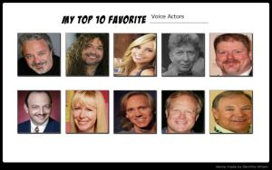 My Top 10 Favorite Voice Actors by Michaelsar