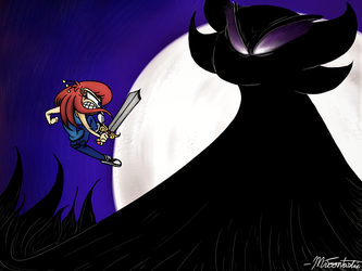 A Battle Between Good and Evil by Mr-Toontastic