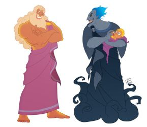 Zeus and Hades by khaamar