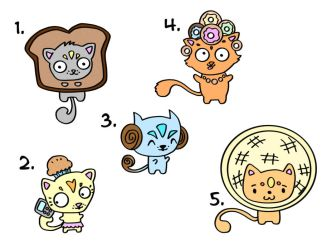 CAT FOOD bakery edition - Adoptable Set by Pometree