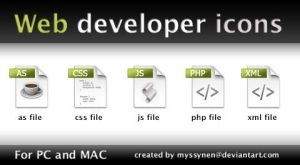 Web developer icons by Myssynen