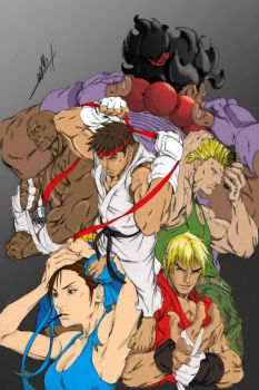 streetfighters by PsychoProjectDesign