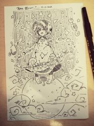 INKTOBER Day 14: Space witch - MARIA by Drawing-Heart