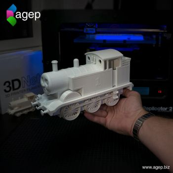 Large 3D Printed Thomas the Tank Engine by agepbiz