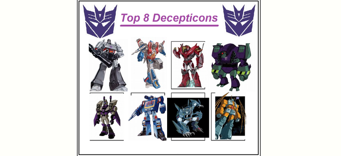My Top 8 Decepticons meme by pyrus125680