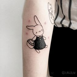 Handpoke - Cute Bunny by lagoliv