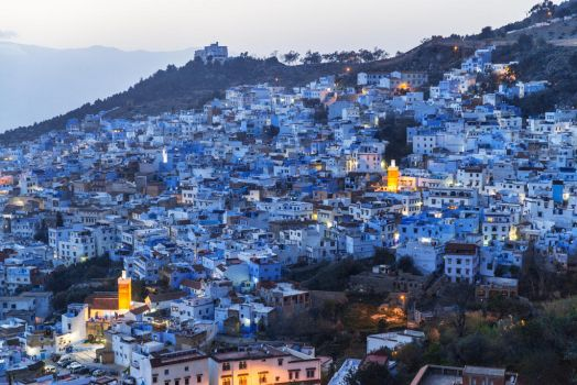 Chefchaouen at dusk by vlad-m