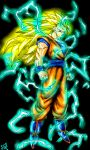 Goku ssj3 (dragon ball Z) power up ..final version by gossj10