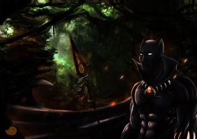 T'Chala-The black panther by ObakeKingu