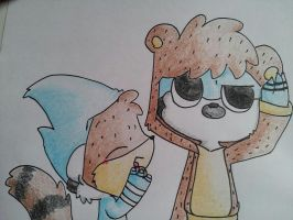 mordecai and rigby :3 by Alexdream12