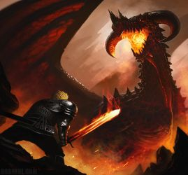 Erik and the Dragon by BobKehl