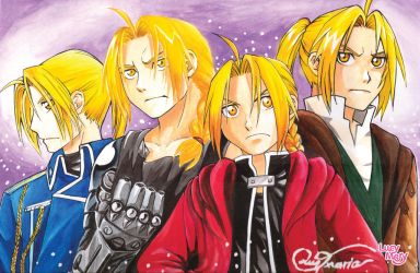 The fantastic Four Edward Elric by LucyMeryChan
