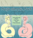 Reference Base - Naga Simple Pack for Adopts [P2U] by xaineko