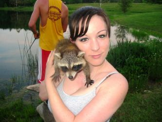 damn pet racoon by morganmarie123