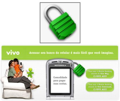 Padlock for a VIVO mobile by alexnovelli
