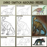 Dino Switch Around Meme - Completed! by MoonyMina