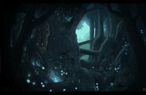 Evernight forest by Karbo
