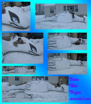 LIFESIZED_Lugia_Sculpture_SNOW by Eternalskyy
