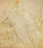 Entei Sketch