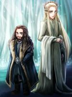 Elven-King and Dwarf-King by sena1923