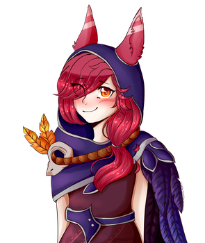 [LoL FA] Xayah by LittleFox-Inori-Chan