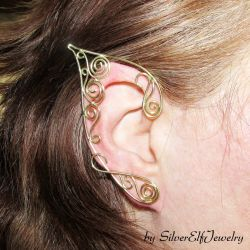 Golden Swirls elf ears by Lyriel-MoonShadow