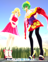Yuuka Kazami and Elly - Tiny City, Giant Problems by MisterZero83