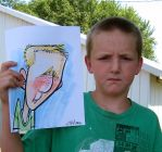 Color Caricature Drawn Live by Kiracatures