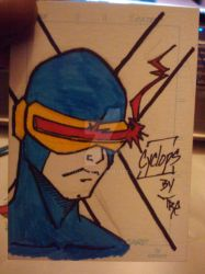 Cyclops Sketch Cards by StratusX