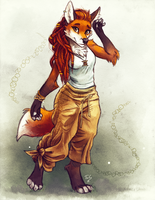 Casual Summer Foxy by TasDraws