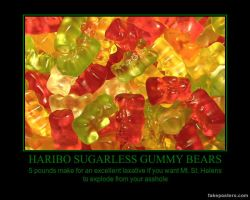 Gummy Bear Demotivational by SpiderTrekfan616