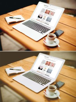 MacBook Air Mockup vol.2 by graphictwister