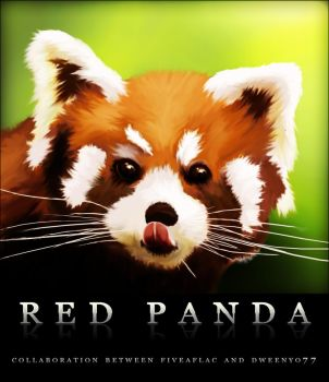 Red Panda Collab with Dweenyo by FiveAflac