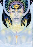 Nine of Air - Dreams of Gaia Tarot by ravynnephelan