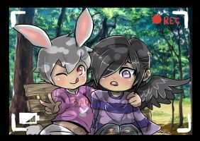 bunny and corvo by tizyizumy2013